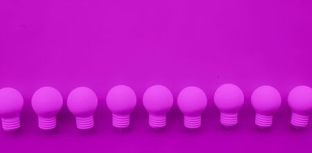 Ideas inspiration concepts with group of lightbulb on gray color background.Business creativity.teamwork for brainstorming.minimal style.motivation to success Imagens