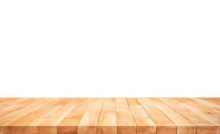 Piękna tekstura drewna blatu na białym tle. Do tworzenia wyświetlania produktu lub projektowania kluczowego układu wizualnego. Ścieżka przycinania Zdjęcie Seryjne