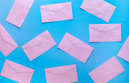 Email marketing concepts with colorful envelope.business information and data