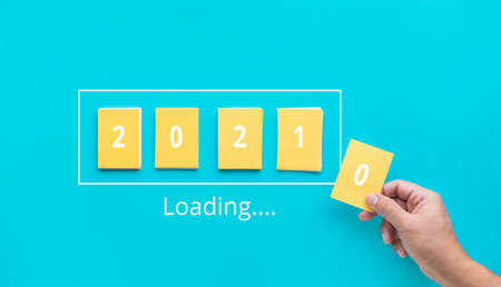 2021  loading  concepts.startup for new year.business motivation