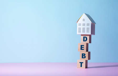 Real estate or  property concepts with debt concepts.business investment and  financial.
