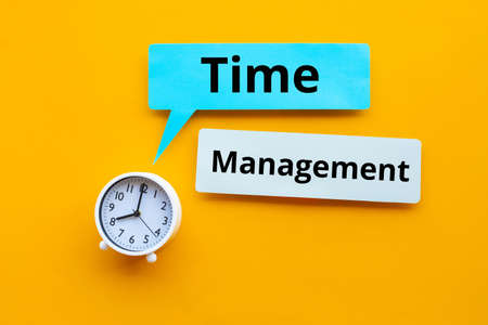 Time management concepts or performance of work.business plan.no people 免版税图像