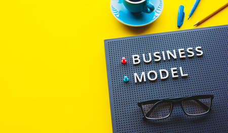 Business model and organization or management concepts.strategy and plan.copy space