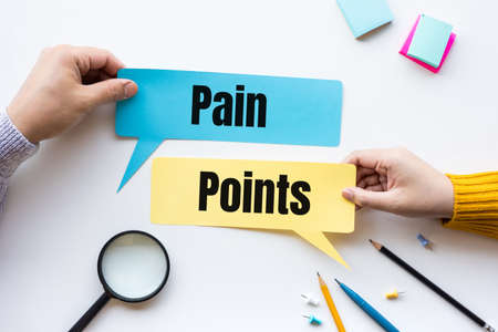 Business pain point and  marketing concepts.plan and strategy ideas