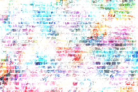 poster on wall: grunge style colorful wall background illustration,