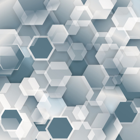 shadowed: Technology concept abstract futuristic background with white shadowed hexagonal geometric design