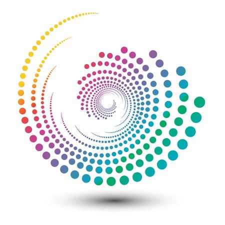 추상 다채로운 소용돌이 모양의 그림, 로고 디자인