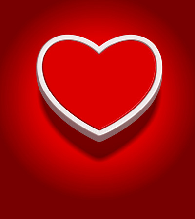3d red heart shape, background illustration illustration