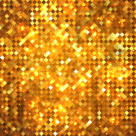 Luxury concept golden vintage background, grunge style design  Vector