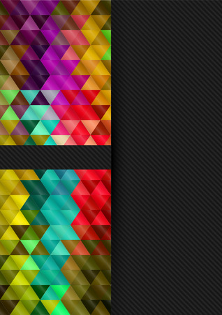Abstract background, A4 size cover design with geometric shapes Vector