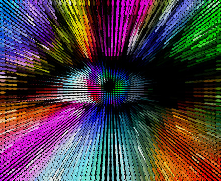 colorful eye, abstract artistic illustration Imagens - 26024752