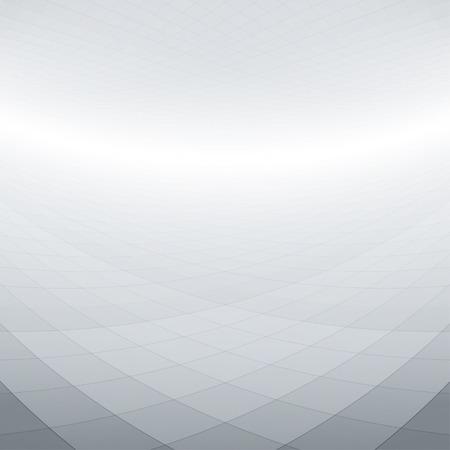 Abstracte perspectief achtergrond met kromgetrokken pleinen Stock Illustratie
