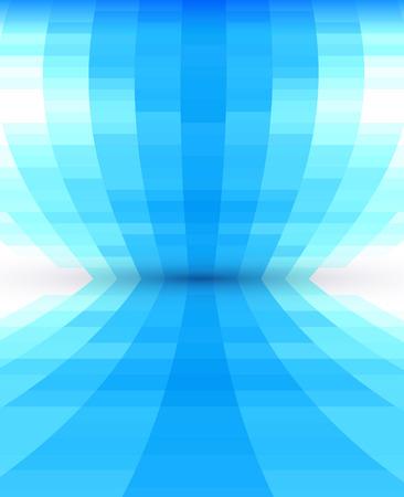 추상 파란색 관점 배경, 모양 디자인
