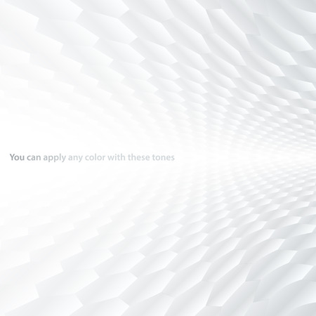 Abstract halftone perspective background with white and gray tones