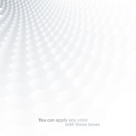 hexagon background: White & grey abstract perspective background Illustration