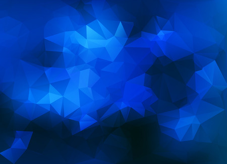 triangular shape: Abstract triangular background with polygonal abstract shapes and pure blue color tones.