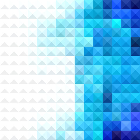 Abstract minimal background with white and blue pixels Ilustração