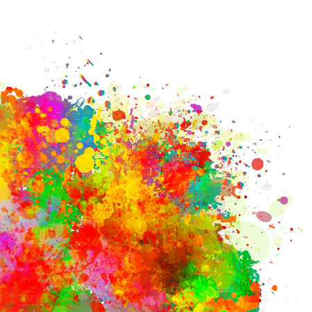 Abstract colorful splash background. Watercolor background illustration. Vettoriali