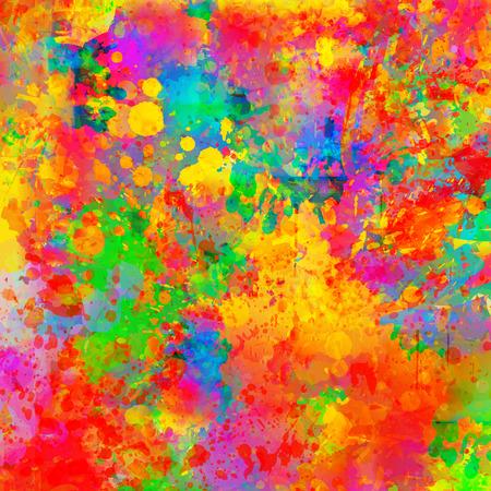 カラフルなスプラッシュの背景を抽象化します。水彩画背景イラスト。