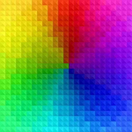 추상 다채로운 사각형 기하학적 배경 (투명도 없음)