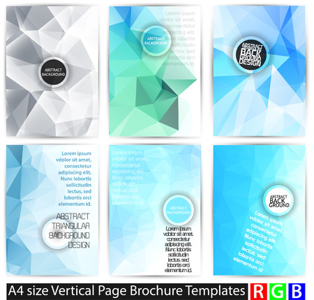 Abstract backgrounds set, brochure & flyer designs, cover templates