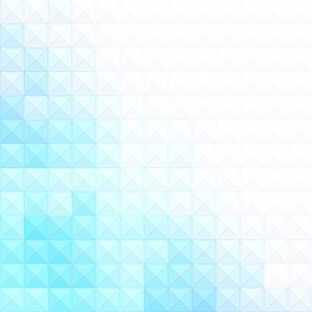 흰색과 파란색 픽셀 및 사각형 추상 최소한의 배경.