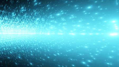 추상 디지털 배경, 빛나는 조명과 배너