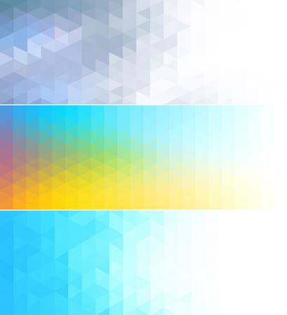 conjunto: Bandera abstracta de mosaico conjunto con el concepto de diseño geométrico con estilo