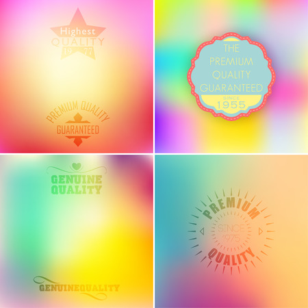 retro backgrounds: Beautiful label set on gradient backgrounds. Retro style pastel colors. Illustration