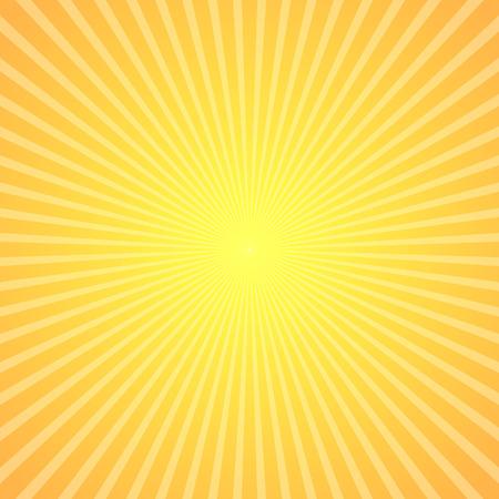 luci estivi Brillante, starburst sfondo raggera. Illustrazione vettoriale.