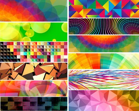 vector banner: Mega banner set, vector designs