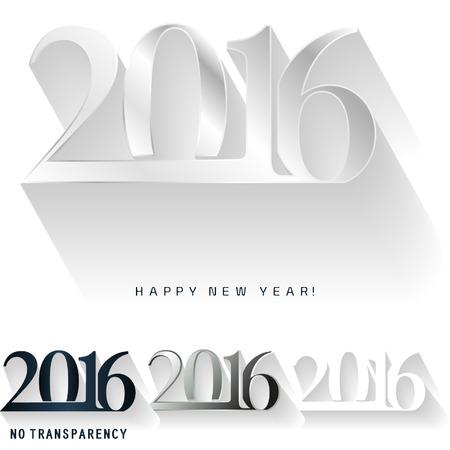 Happy new year 2016, calendar cover design. Vector