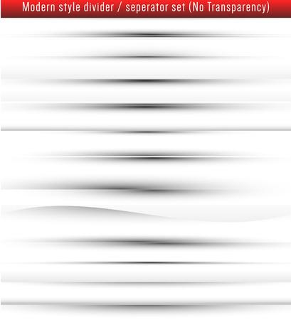 Modern style web page dividerseperator set. Illustration