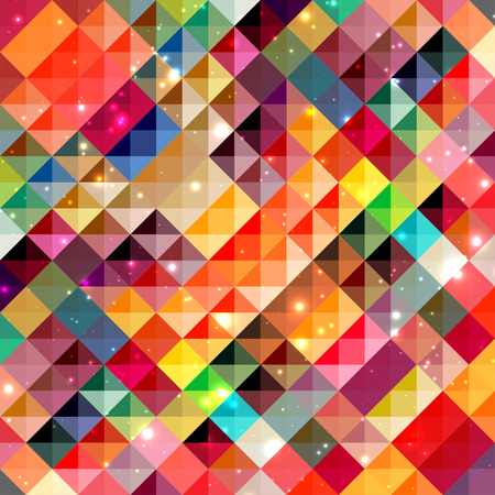 Abstract colorful mosaic squares background Vectores