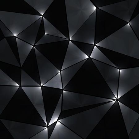 negro: Fondo geométrico abstracto con perspectiva luces brillantes. Vectores