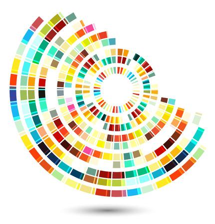 techno: techno style abstract shape illustration Illustration