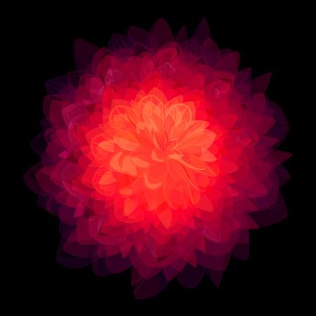 macro flowers: Abstract stylish flower background Illustration
