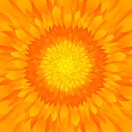 추상 노란색 오렌지 톤의 꽃이나 해바라기 배경