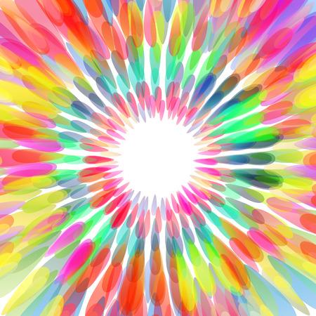 Abstract colorful flower, celebration background Illustration