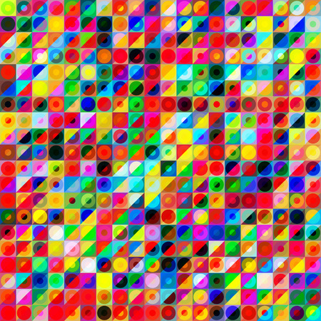 Abstract colorful geometric background with vibrant color tones