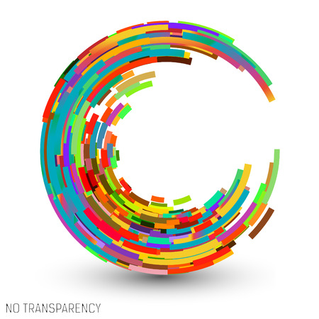 focus: Colorful swirl icon, clip art, design element vector illustration
