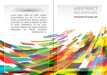 Abstract geometric shapes background and brochure cover template. Horizontal A3-A4 page size