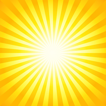 Heldere zonnestralen, glanzend zomer achtergrond met levendige geel oranje kleuren. Perfect licht gestreepte achtergrond.