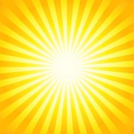 Helle Sonnenstrahlen, glänzend Sommer Hintergrund mit leuchtend gelben orange Farben. Perfektes Licht gestreiften Hintergrund.