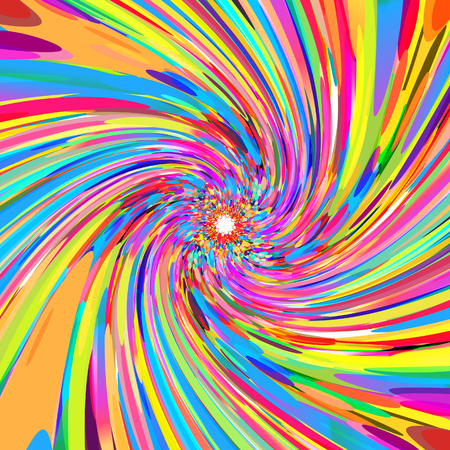 抽象的なカラフルな渦巻きのベクトルの背景