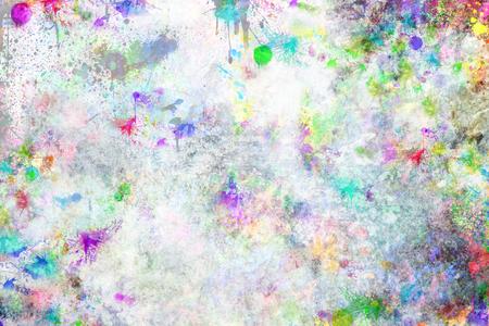 추상 grunge 스타일 다채로운 스플래시 배경입니다. 수채화 배경 이미지입니다.