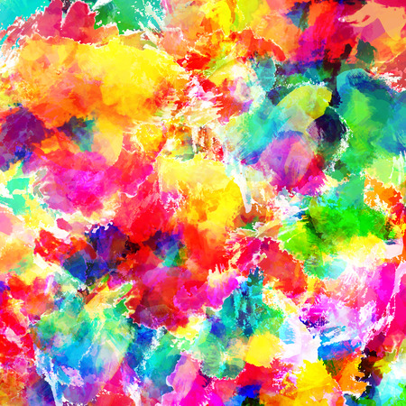 oil pastels: Abstract watercolor, oil painting background. Stock Photo