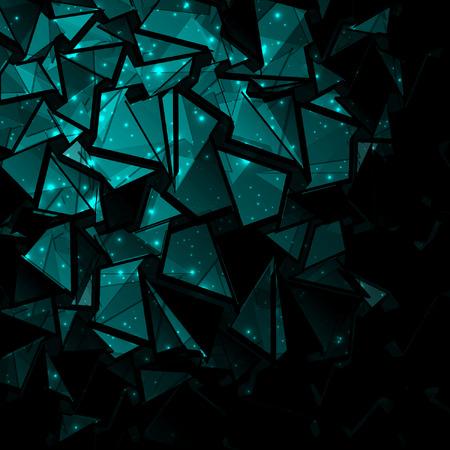 3d abstract dark blue background