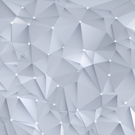 architectural styles: Abstract white  grey geometric, polygonal shapes background
