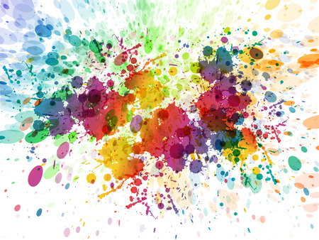 Abstract color splash, watercolor background illustration Çizim